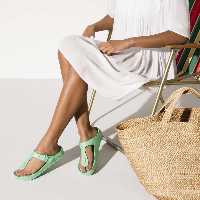 Дамски джапанки Birkenstock Gizeh EVA Beach Bold Jade светло зелени - снимка 7