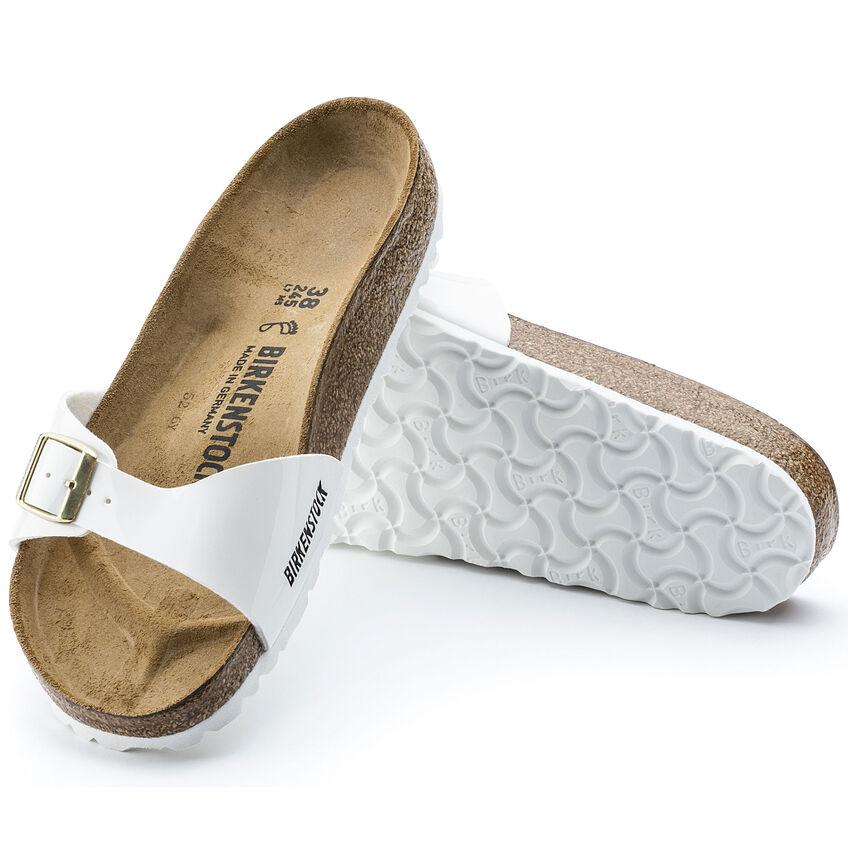 Дамски чехли от биркофлор Birkenstock Madrid бял лак - снимка 7