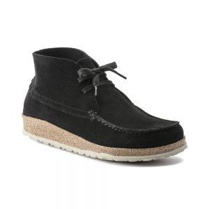 Мъжки ежедневни високи обувки от велур Birkenstock Maidan черни - снимка 1