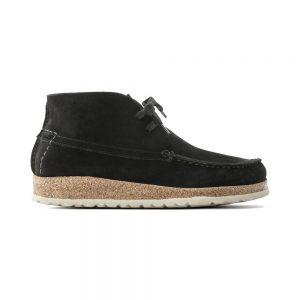 Мъжки ежедневни високи обувки от велур Birkenstock Maidan черни - снимка 2