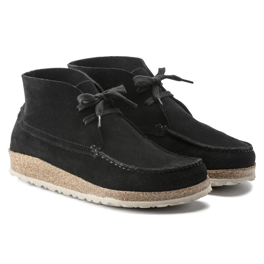 Мъжки ежедневни високи обувки от велур Birkenstock Maidan черни - снимка 5