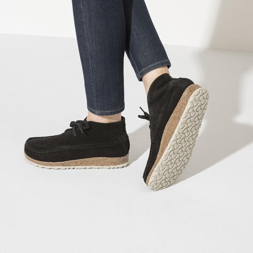 Мъжки ежедневни високи обувки от велур Birkenstock Maidan черни - снимка 9