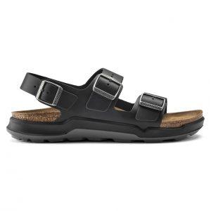Мъжки кожени сандали с еластична подметка Birkenstock Milano CT Artic Old черни - снимка 2