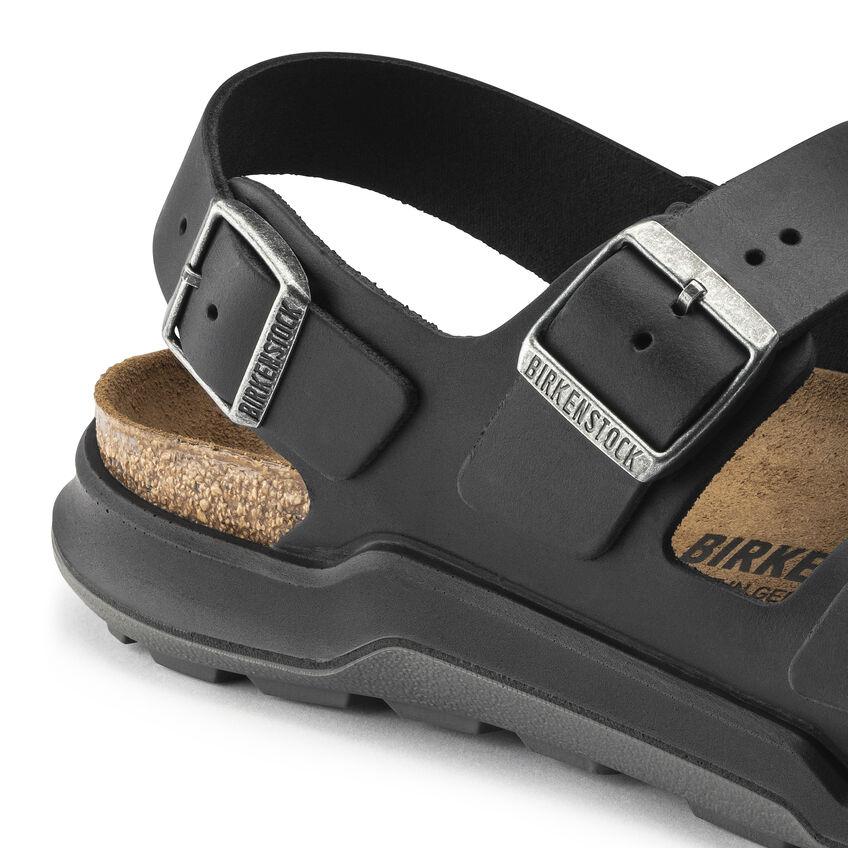 Мъжки кожени сандали с еластична подметка Birkenstock Milano CT Artic Old черни - снимка 6