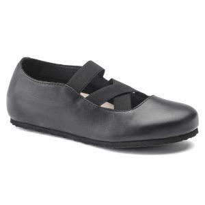 Дамски кожени обувки с ластици Santa Ana Smooth Leather Black 1020370 черни - снимка 1
