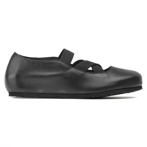 Дамски кожени обувки с ластици Santa Ana Smooth Leather Black 1020370 черни - снимка 2