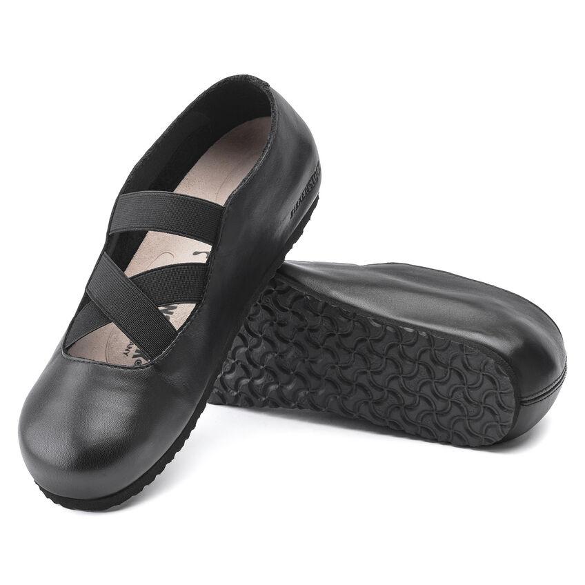 Дамски кожени обувки с ластици Santa Ana Smooth Leather Black 1020370 черни - снимка 5