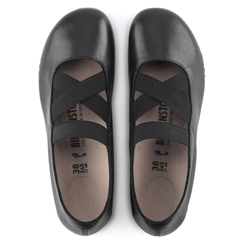Дамски кожени обувки с ластици Santa Ana Smooth Leather Black 1020370 черни - снимка 6