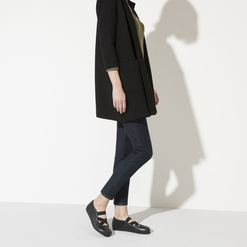 Дамски кожени обувки с ластици Santa Ana Smooth Leather Black 1020370 черни - снимка 7