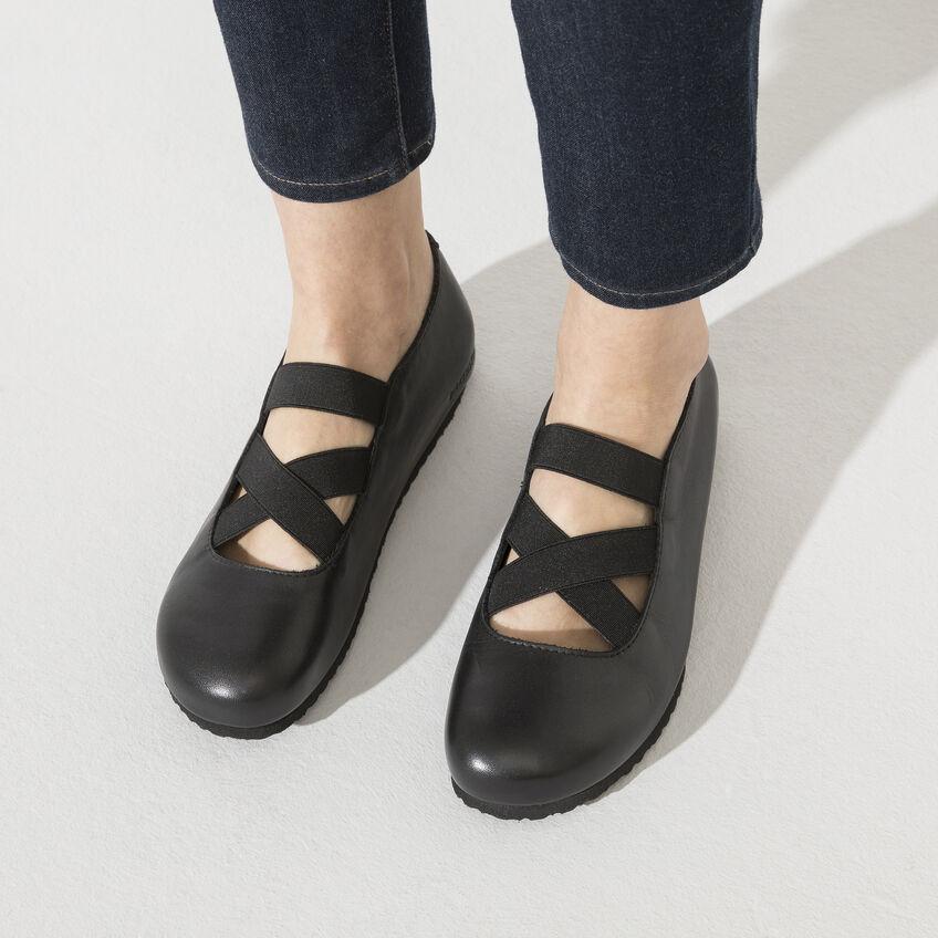 Дамски кожени обувки с ластици Santa Ana Smooth Leather Black 1020370 черни - снимка 8