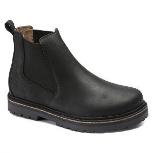 Дамски високи обувки Birkenstock Stalon LENU Black черни - снимка 1