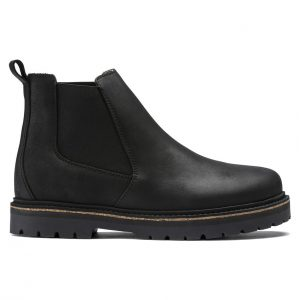 Дамски високи обувки Birkenstock Stalon LENU Black черни - снимка 2