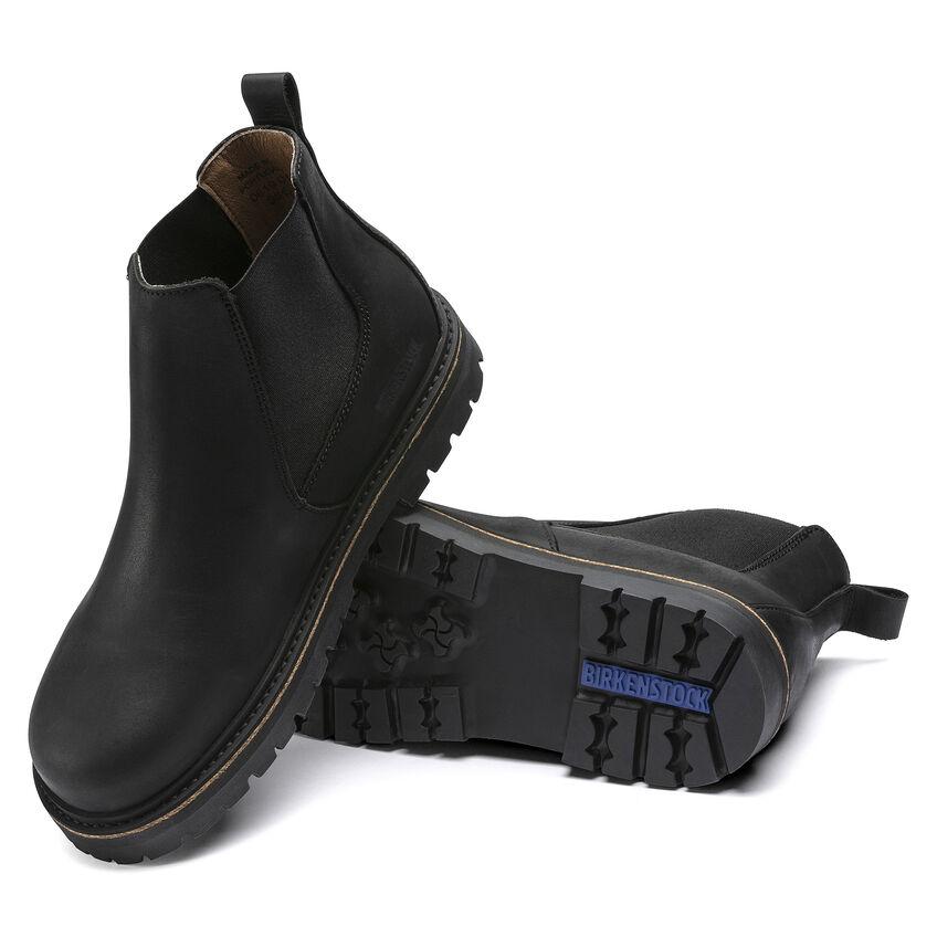 Дамски високи обувки Birkenstock Stalon LENU Black черни - снимка 5