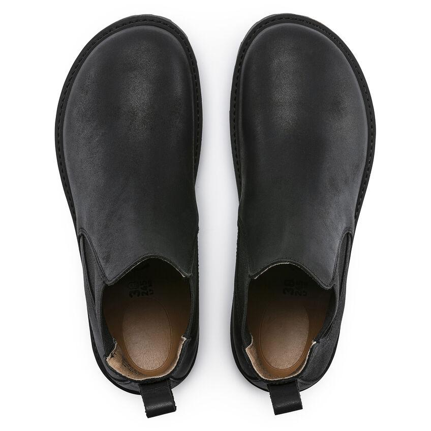 Дамски високи обувки Birkenstock Stalon LENU Black черни - снимка 6