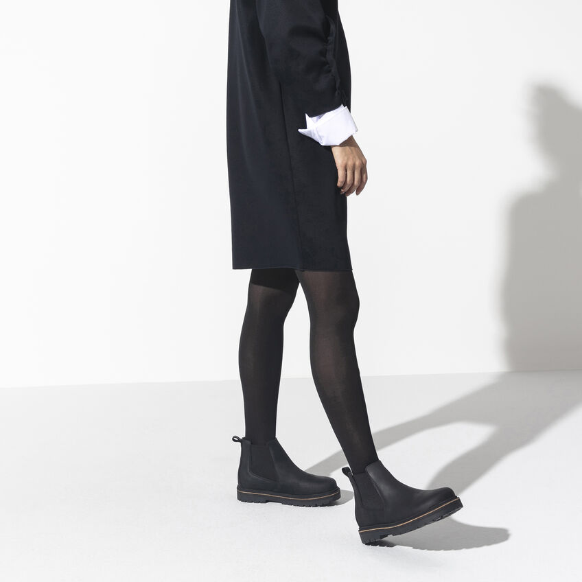 Дамски високи обувки Birkenstock Stalon LENU Black черни - снимка 7