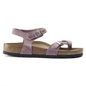 Дамски сандали от промазана ест. кожа Birkenstock Taormina цвят лавандула - снимка 2