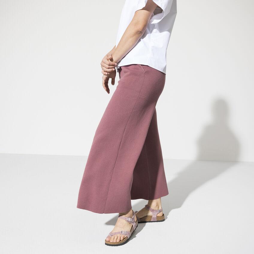 Дамски сандали от промазана ест. кожа Birkenstock Taormina цвят лавандула - снимка 7