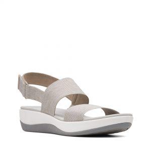 Дамски сандали от текстил с дебела подметка Clarks Arla Jacory Sand пясъчни - снимка 1