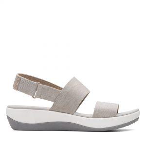 Дамски сандали от текстил с дебела подметка Clarks Arla Jacory Sand пясъчни - снимка 2