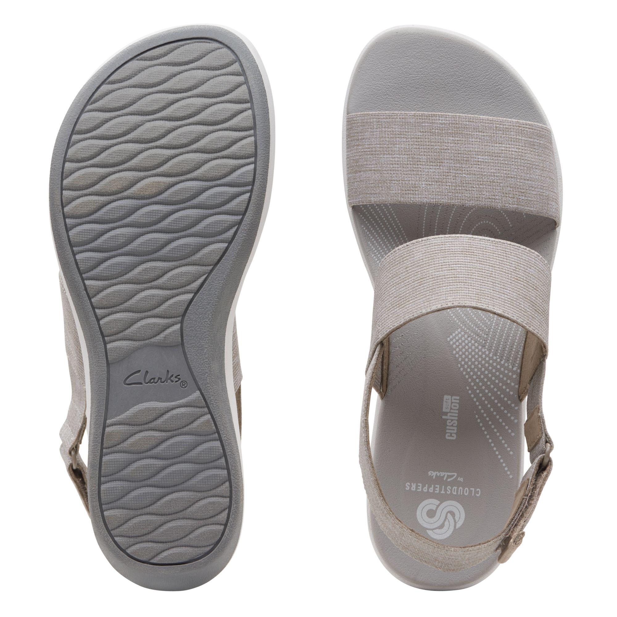 Дамски сандали от текстил с дебела подметка Clarks Arla Jacory Sand пясъчни - снимка 7