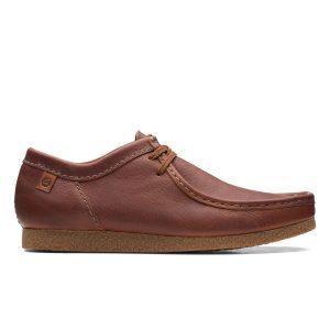 Мъжки ежедневни обувки от ест. кожа Clarks Shacre II Run Tan Tumbled кафяви - снимка 2