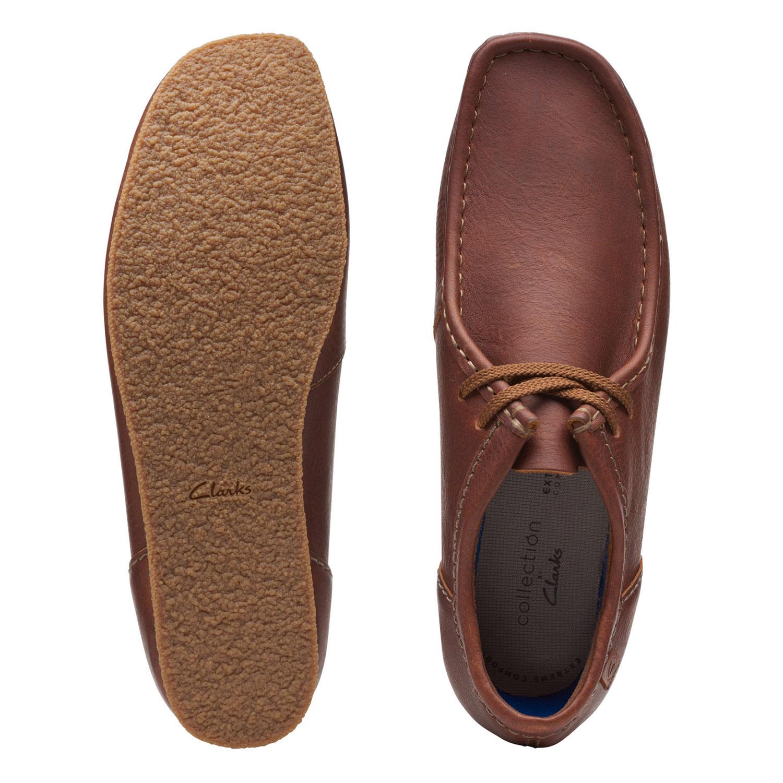 Мъжки ежедневни обувки от ест. кожа Clarks Shacre II Run Tan Tumbled кафяви - снимка 6
