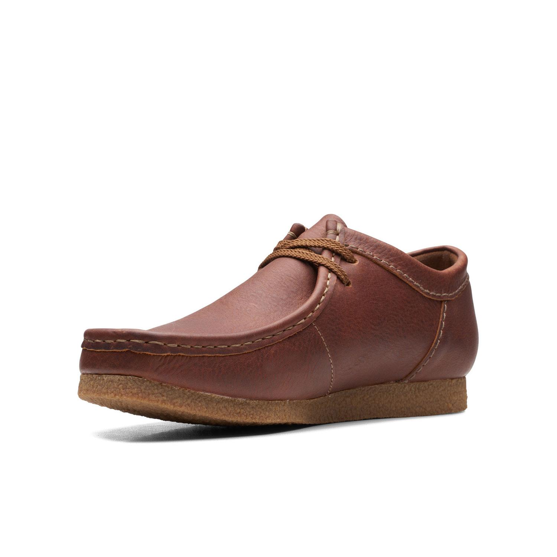 Мъжки ежедневни обувки от ест. кожа Clarks Shacre II Run Tan Tumbled кафяви - снимка 7