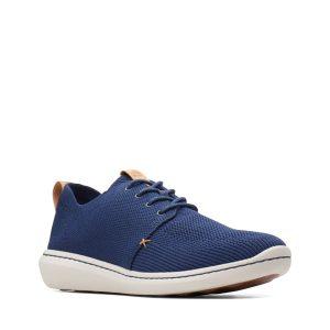 Мъжки ежедневни обувки от текстил Clarks Step Urban Mix Navy морско синьо - снимка 1