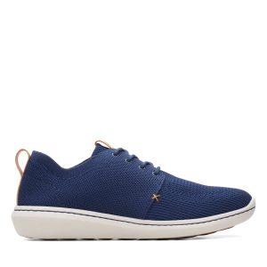 Мъжки ежедневни обувки от текстил Clarks Step Urban Mix Navy морско синьо - снимка 2