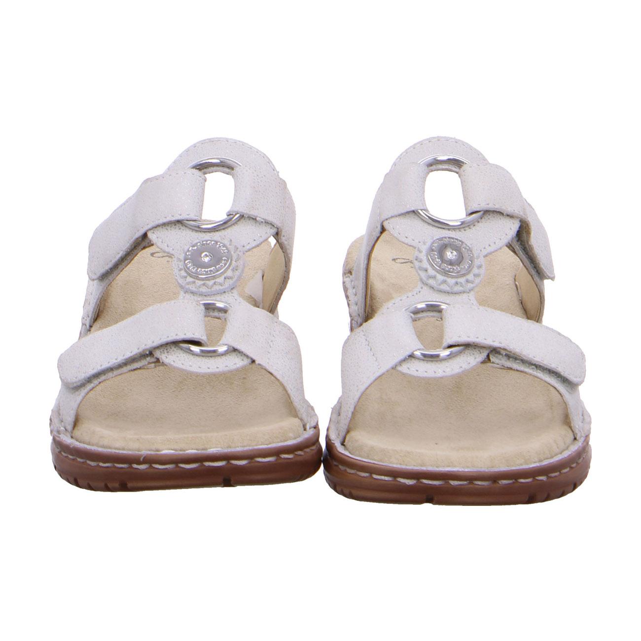 Дамски чехли ara 12-27232-78 светлосиво блестящи - снимка 6