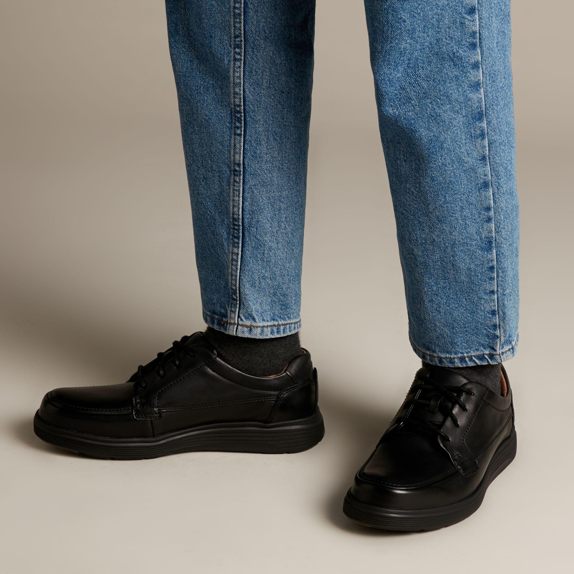 Голям размер мъжки ежедн. обувки Clarks Un Abode Easy - снимка 8