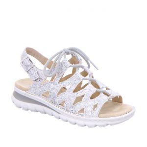 Дамски сандали с връзки ara 12-47201-76 сребристи - снимка 1