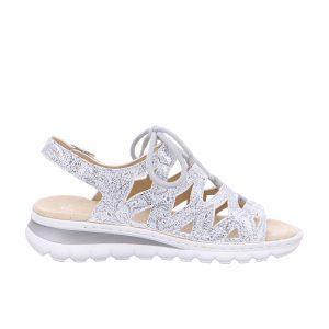Дамски сандали с връзки ara 12-47201-76 сребристи - снимка 2
