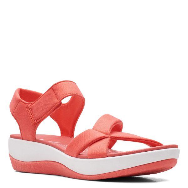 Дамски текстилни сандали Clarks Arla Gracie Coral цвят корал - снимка 1