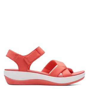 Дамски текстилни сандали Clarks Arla Gracie Coral цвят корал - снимка 2
