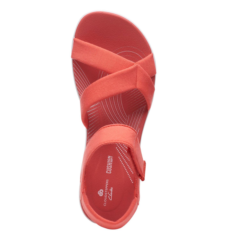 Дамски текстилни сандали Clarks Arla Gracie Coral цвят корал - снимка 6