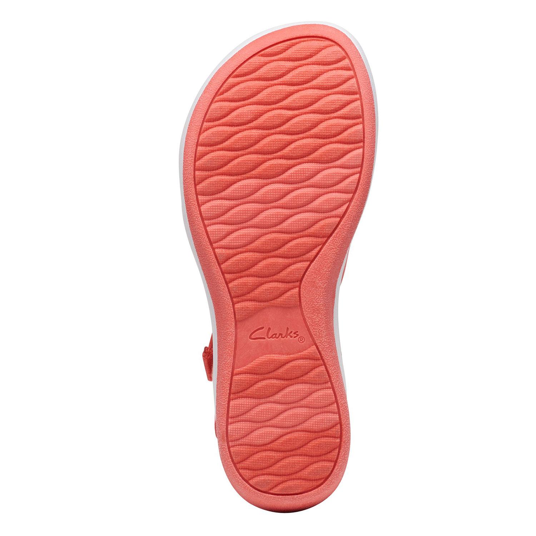 Дамски текстилни сандали Clarks Arla Gracie Coral цвят корал - снимка 7