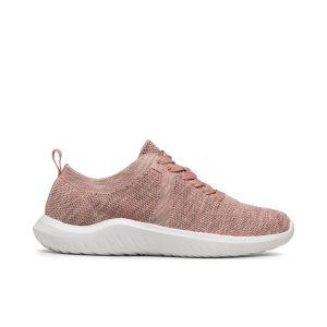 Дамски спортни обувки от текстил Clarks Nova Glint светло розово - снимка 2