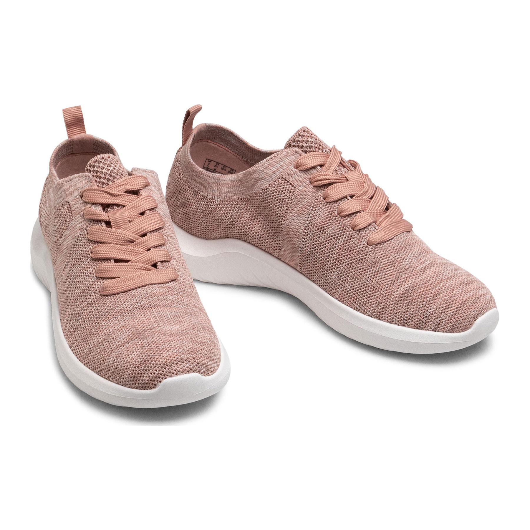 Дамски спортни обувки от текстил Clarks Nova Glint светло розово - снимка 11