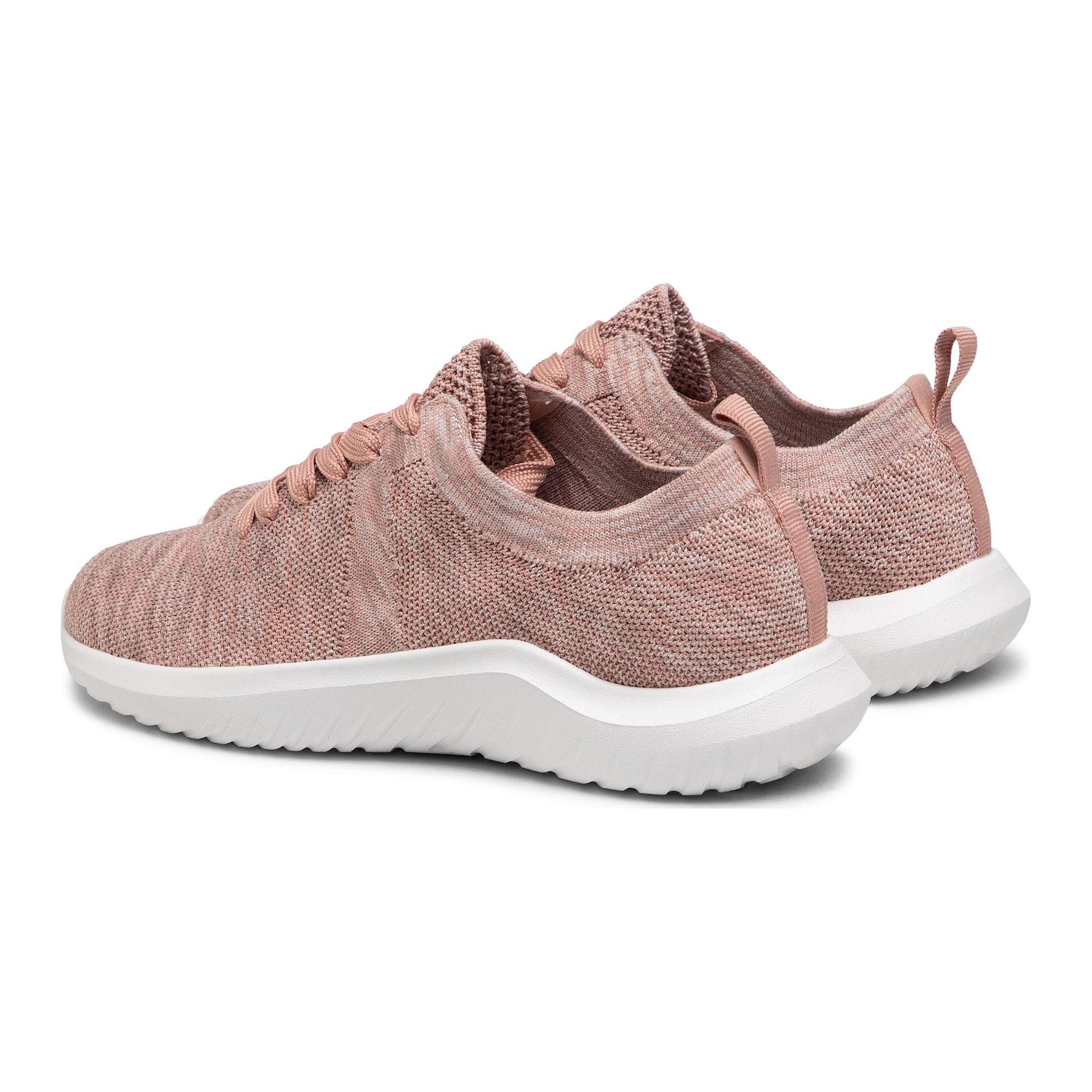 Дамски спортни обувки от текстил Clarks Nova Glint светло розово - снимка 12