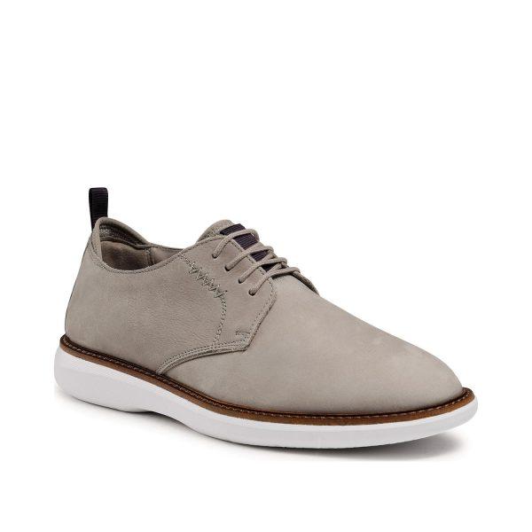Мъжки ежедневни обувки от набук Clarks Brantin Low Stone бежови - снимка 1