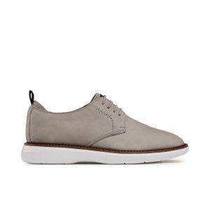 Мъжки ежедневни обувки от набук Clarks Brantin Low Stone бежови - снимка 2