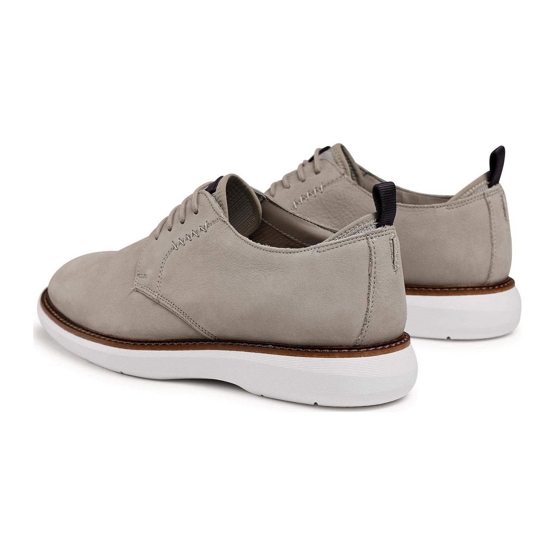 Мъжки ежедневни обувки от набук Clarks Brantin Low Stone бежови - снимка 6