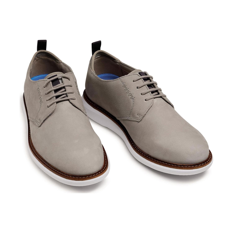Мъжки ежедневни обувки от набук Clarks Brantin Low Stone бежови - снимка 7
