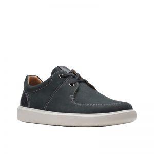 Мъжки ежедневни обувки от набук Clarks Cambro Lace черни - снимка 1
