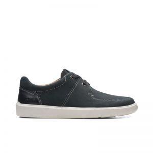 Мъжки ежедневни обувки от набук Clarks Cambro Lace черни - снимка 2