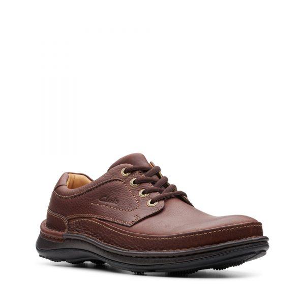 Голям размер мъжки ежедн. обувки Clarks Nature Three махагон - снимка 1