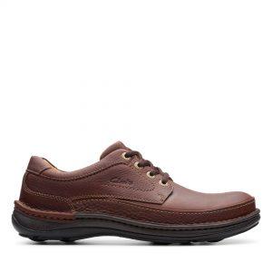 Голям размер мъжки ежедн. обувки Clarks Nature Three махагон - снимка 2