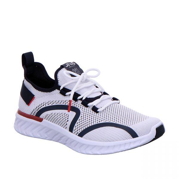 Мъжки спортни обувки от текстил ara 11-35070-07 цветове бяло, червено и синьо - снимка 1
