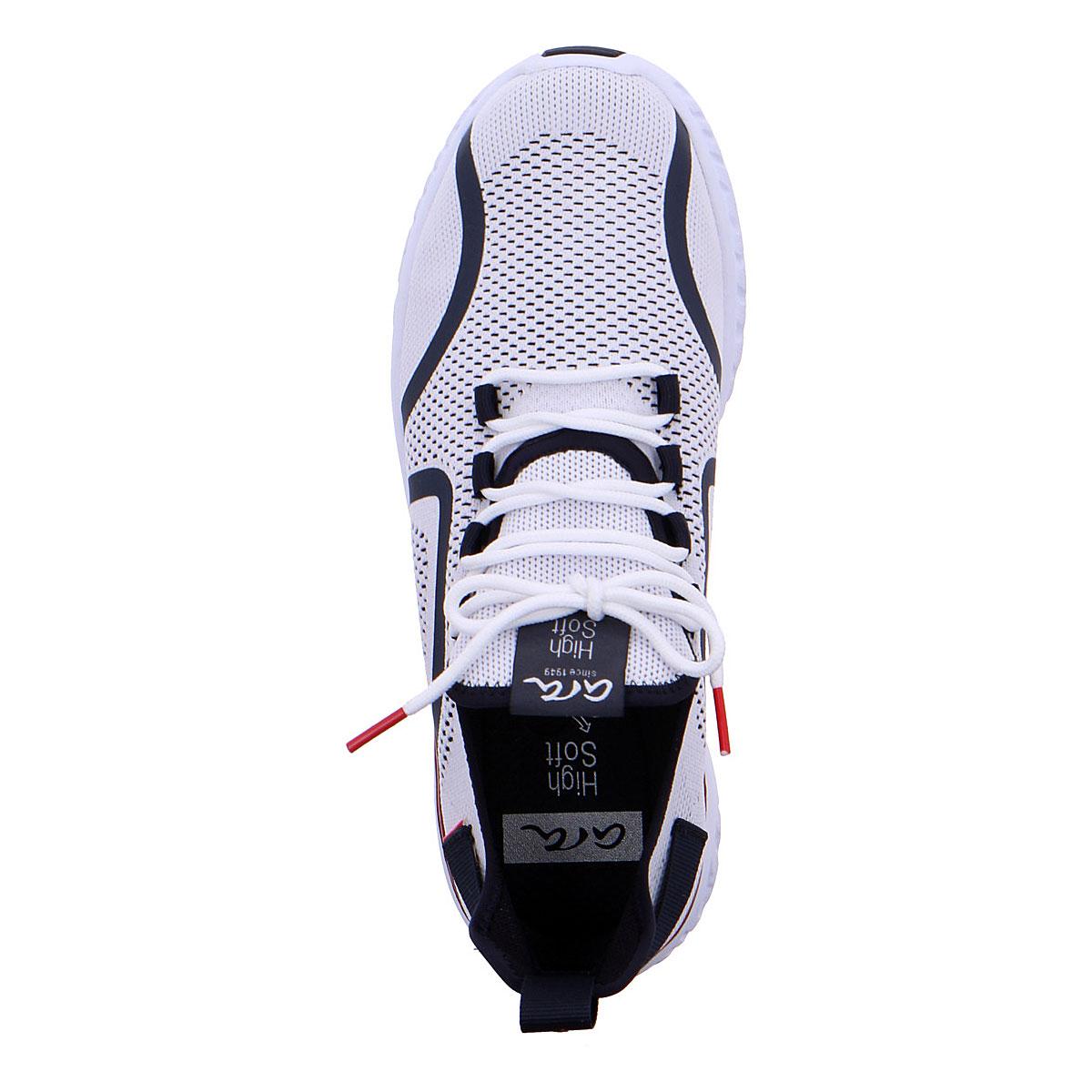 Мъжки спортни обувки от текстил ara 11-35070-07 цветове бяло, червено и синьо - снимка 3